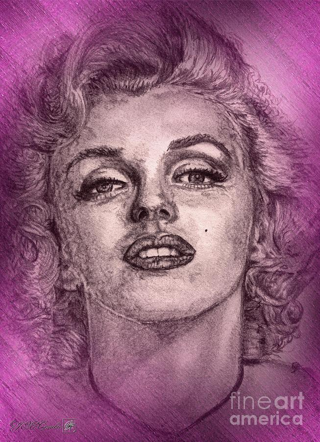 Marilyn Digital Art - Marilyn Monroe In Pink by J McCombie