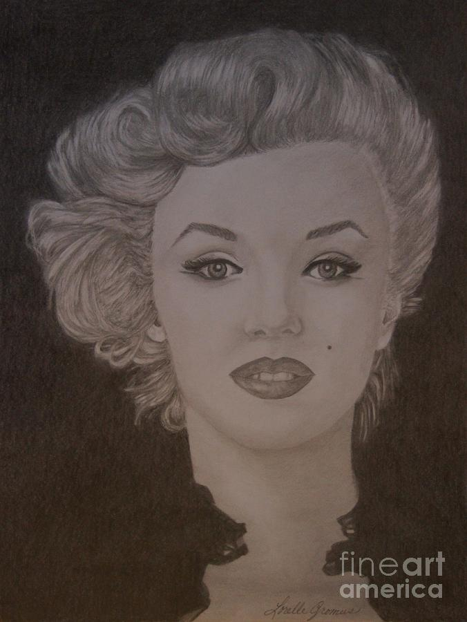 Actress Drawing - Marilyn Monroe by Lorelle Gromus
