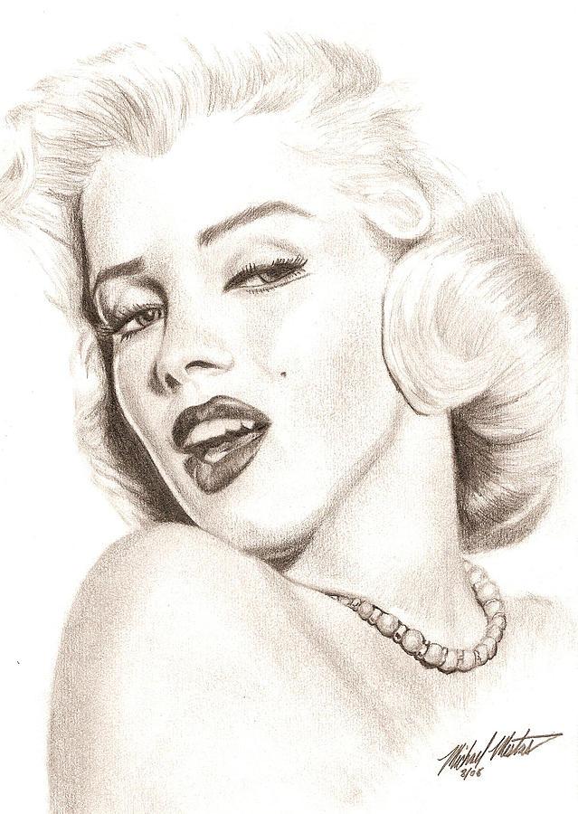 Marilyn Monroe Drawing - Marilyn Monroe by Michael Mestas