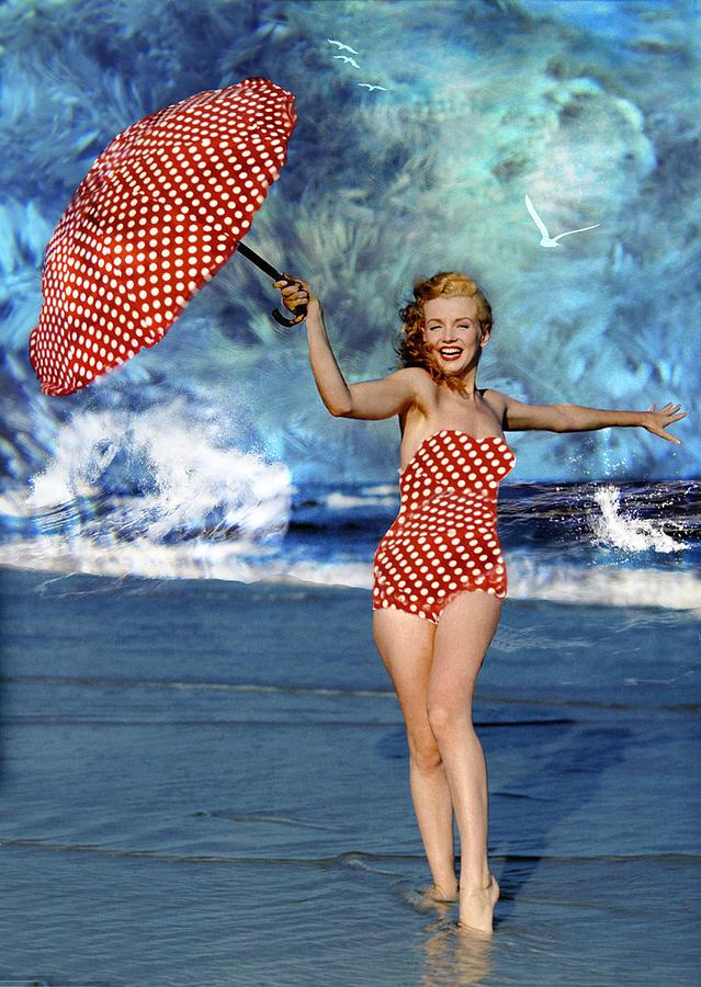 Marilyn Monroe On The Beach Photograph By Ericamaxine Price