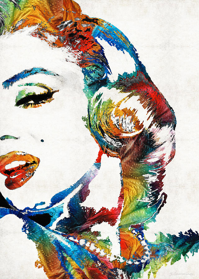 marilyn monroe painting bombshell by sharon cummings painting by sharon cummings. Black Bedroom Furniture Sets. Home Design Ideas