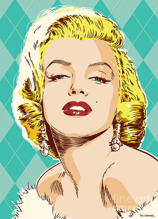 Marilyn Monroe Digital Art - Marilyn Monroe Pop Art by Jim Zahniser