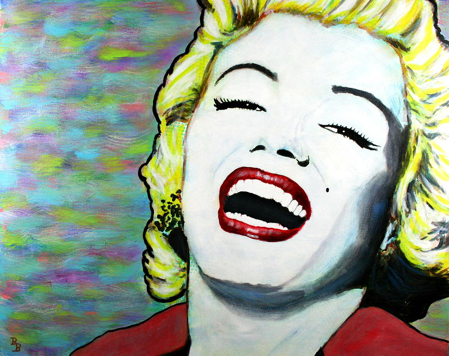 Marilyn Monroe Painting - Marilyn Monroe Portrait Bright Laugh by Bob Baker