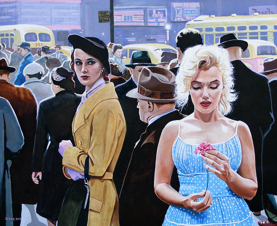 Celebrity Painting - Marilyn Monroe - River Of No Return by Jo King