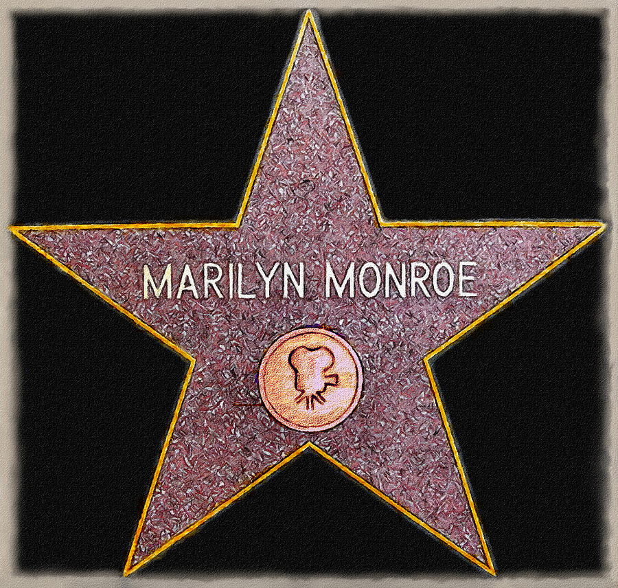 1960 Painting - Marilyn Monroes Star Painting  by Bob and Nadine Johnston