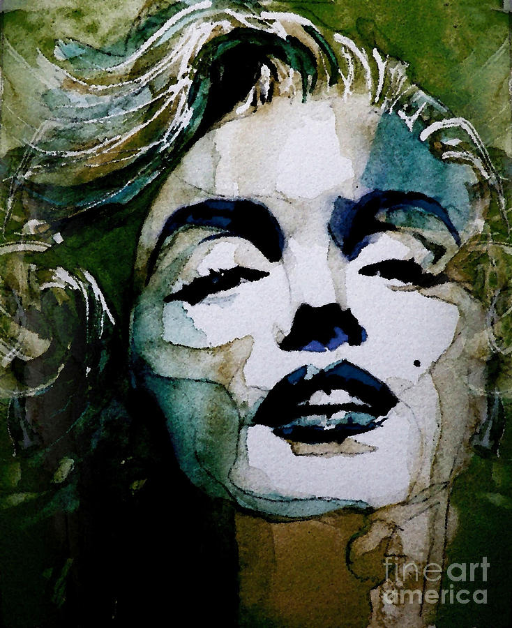 Marilyn Monroe . Legend  Painting - Marilyn No10 by Paul Lovering
