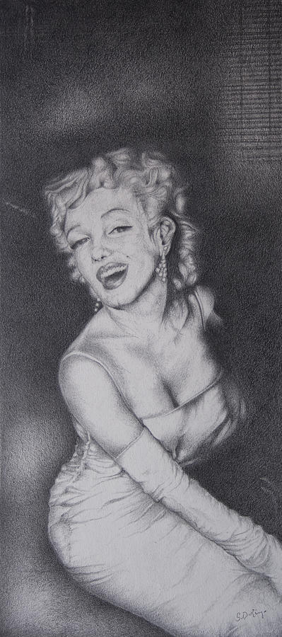 Illustration Drawing - Marilyn by Stephen J DiRienzo