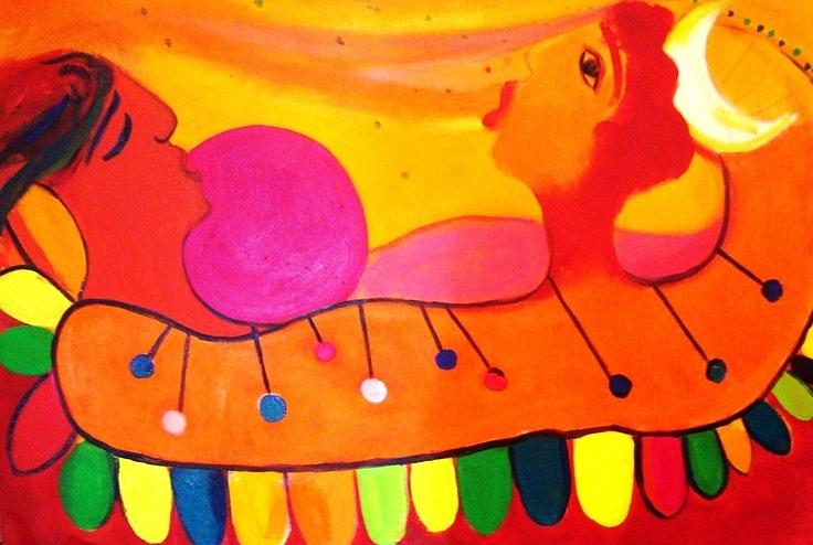 Marimba Painting - Marimba by Jose jackson Guadamuz guadamuz