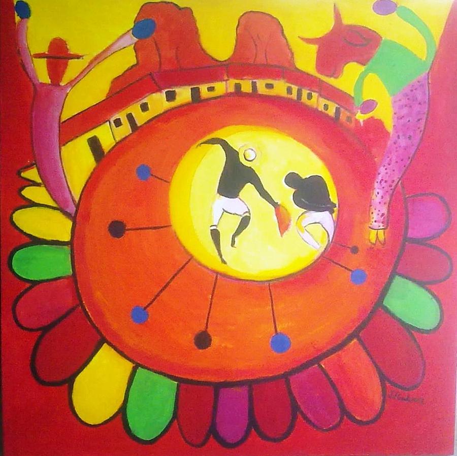 Marimba Painting - Marimbona by Jose jackson Guadamuz guadamuz
