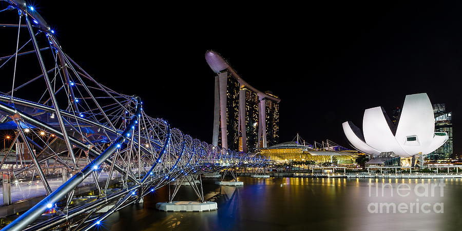 High Rise Photograph - Marina Bay Sands by Pete Reynolds