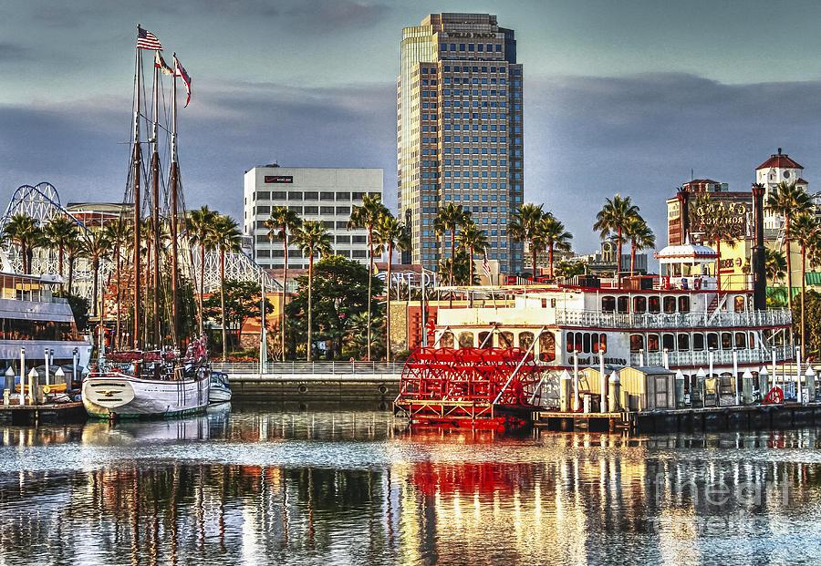 Long Beach Photograph - Marina Before Sunset by Pam Vick