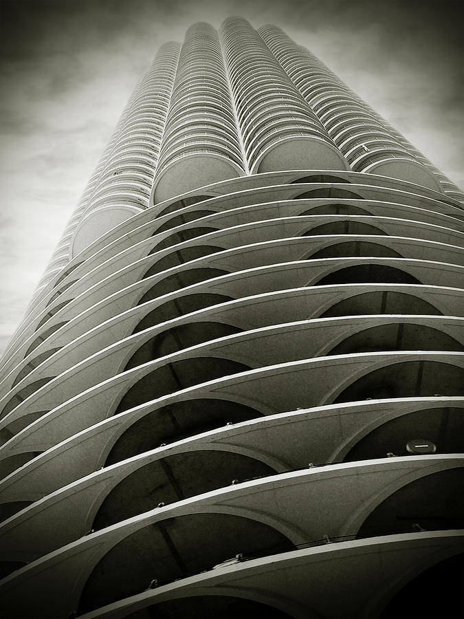 Petal Photograph - Marina City Chicago Il by Christine Till