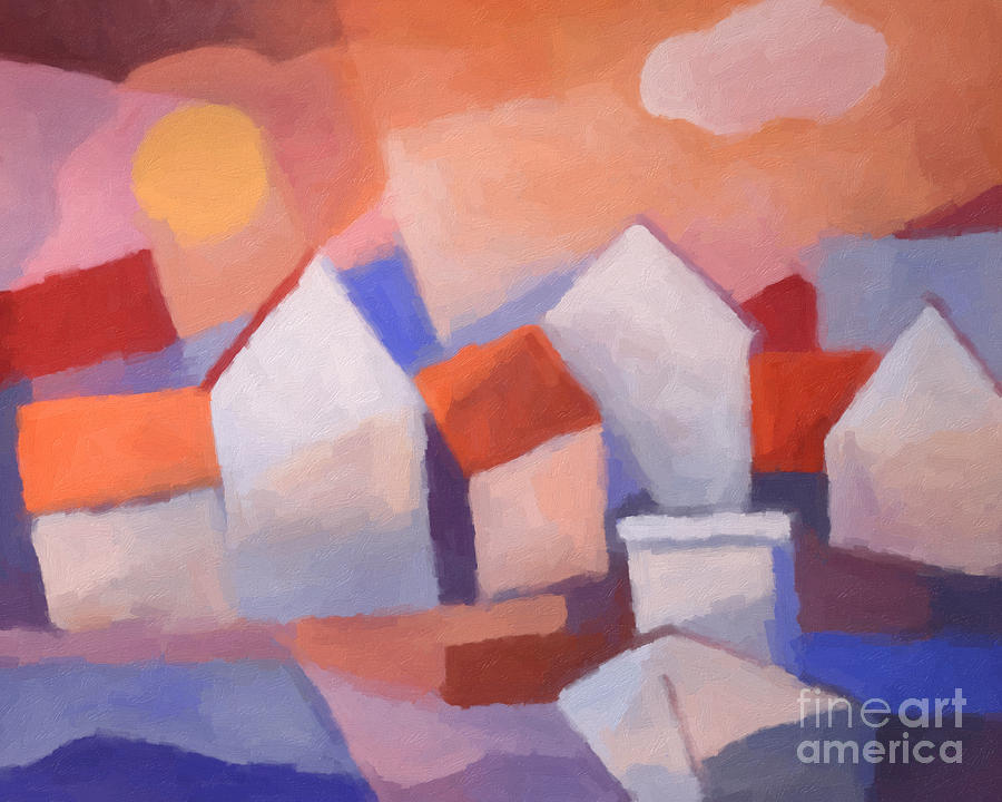 Marina Cubic Painting - Marina Cubic by Lutz Baar