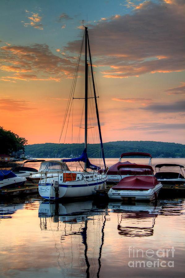 Lake Hopatcong Photograph - Marina Sunrise by Craig Holquist