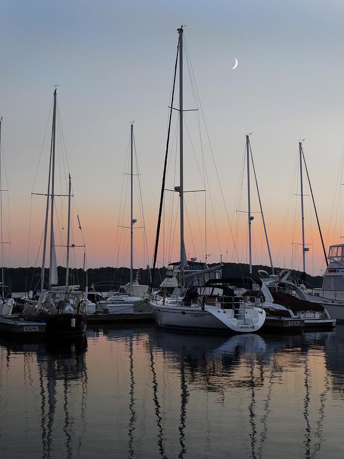 Marina Photograph - Marina Sunset Afterglow by David T Wilkinson