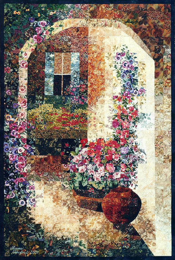 Impressionistic Photograph - Marinas Garden by Lenore Crawford