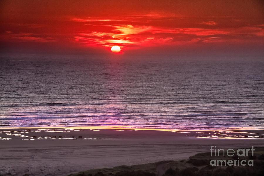Sunset Photograph - Marine Sunset by Robert Bales