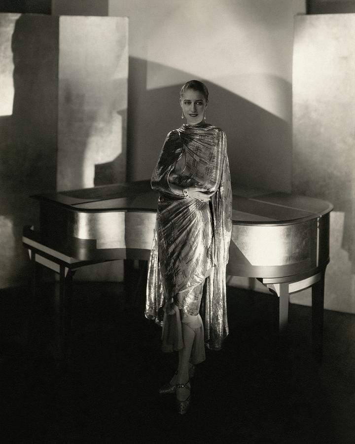 Marion Morehouse By A Piano Photograph by Edward Steichen