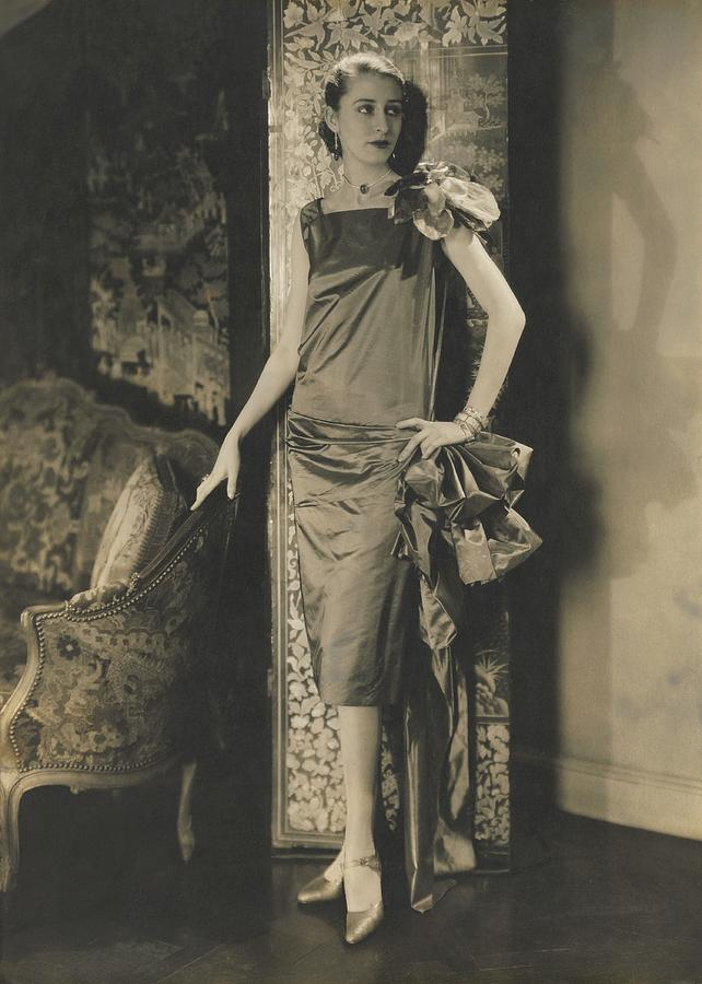 marion morehouse in conde nast apartment photograph by edward steichen
