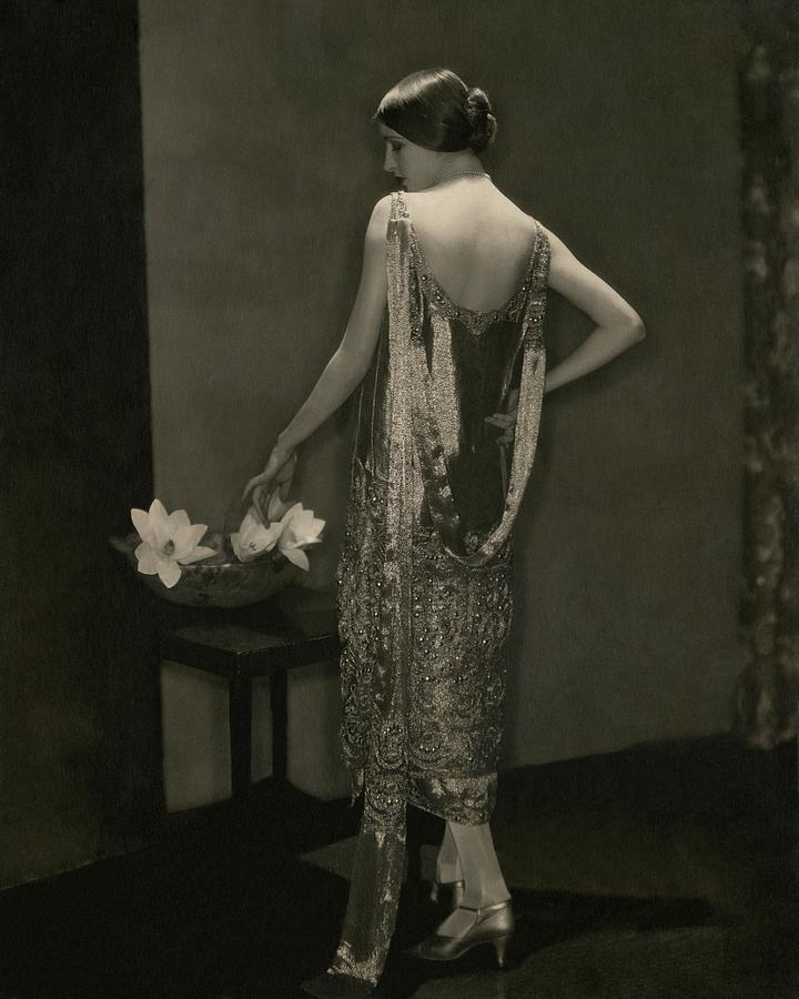 Marion Morehouse Wearing A Chanel Dress Photograph by Edward Steichen