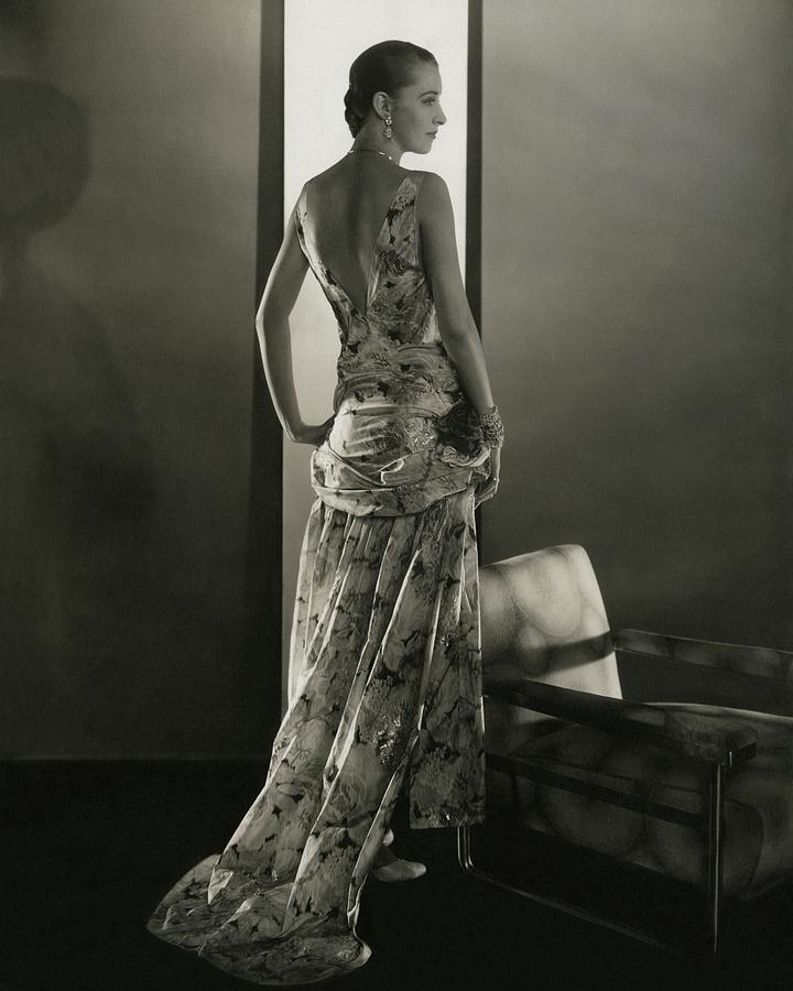 Marion Morehouse Wearing A Louiseboulanger Dress Photograph by Edward Steichen