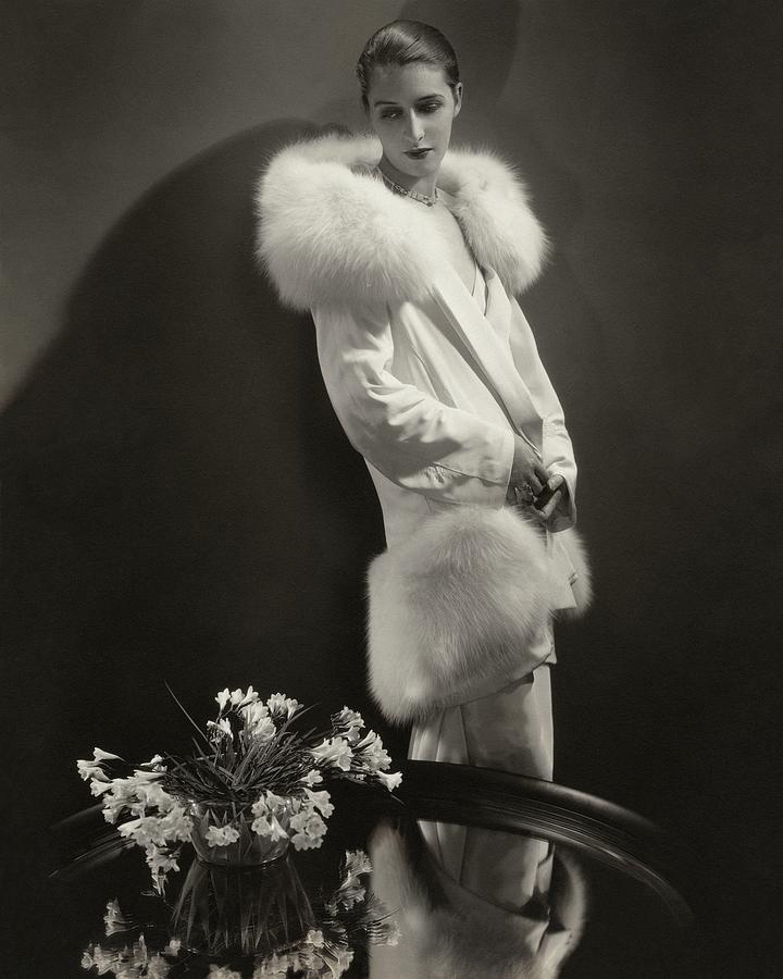 Marion Morehouse Wearing An Augustabernard Jacket Photograph by Edward Steichen