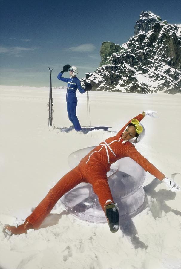 Marisa Berenson Wearing A Skiing Outfit Photograph by Arnaud de Rosnay