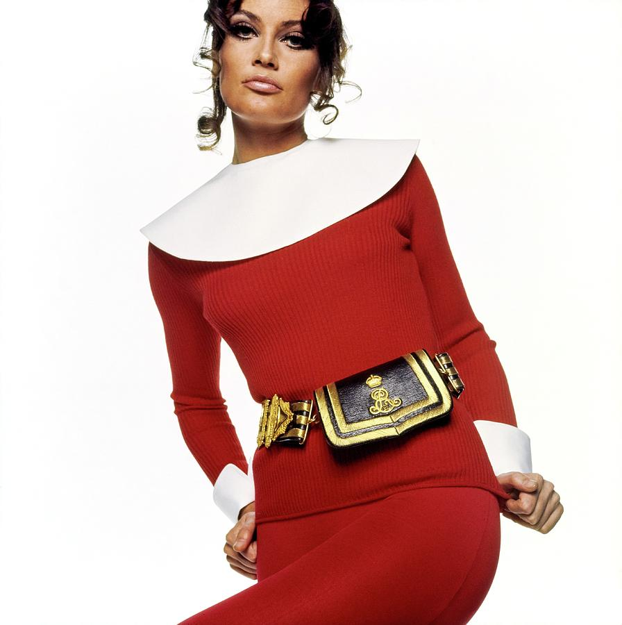 Accessories Photograph - Marisa Mell Wearing Giorgio Di Santangelo by Bert Stern