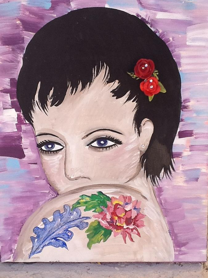 Female Mixed Media - Marissa by Karen Carnow