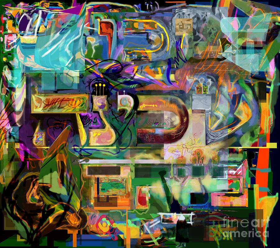 Digital Art - Marital Harmony 54 by David Baruch Wolk