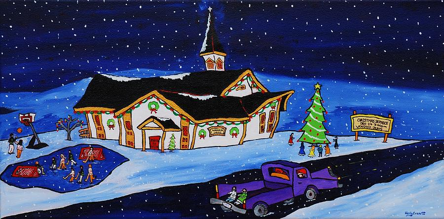 Christmas Painting - Maritime Christmas by Holly Everett