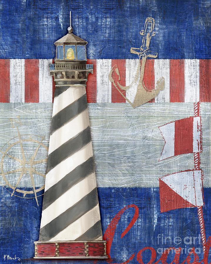 Nautical Painting - Maritime Lighthouse II by Paul Brent