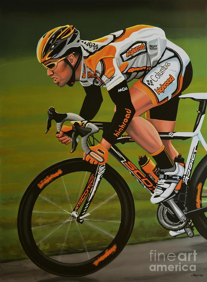 Mark Cavendish Painting - Mark Cavendish by Paul Meijering