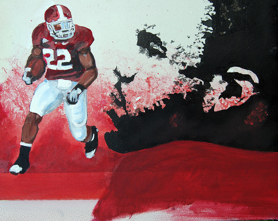 Tony Lima Painting - Mark Ingram Roll Tide by Ottoniel Lima