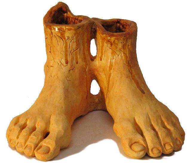 Feet Sculpture - Mark S. Allens Feet by Karen Fulk