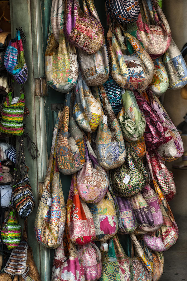 Calico Photograph - Market Bags 2 by Brenda Bryant