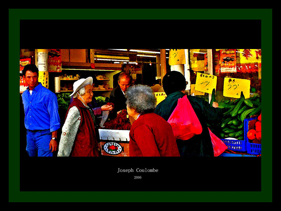 Chinatown Digital Art - Market Day In Chinatown  by Joseph Coulombe
