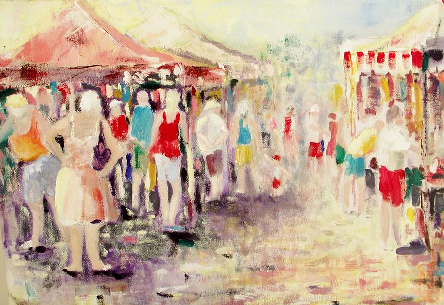 Market Painting - Market Day by Ken Parkes