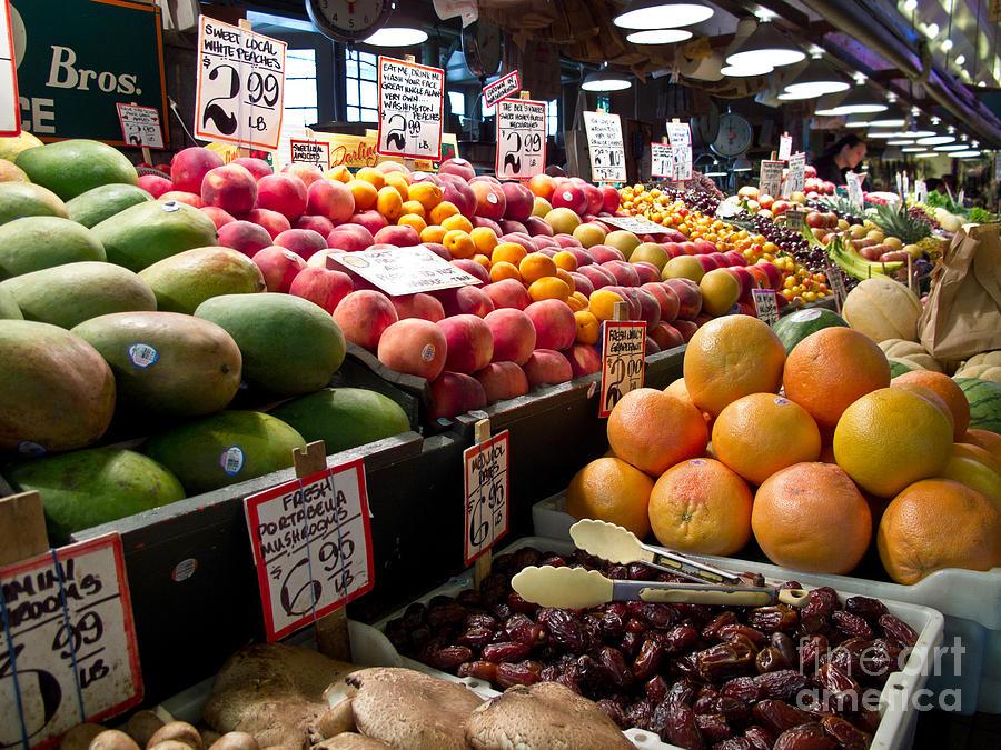 Market Photograph - Market Fresh by Arlene Carmel