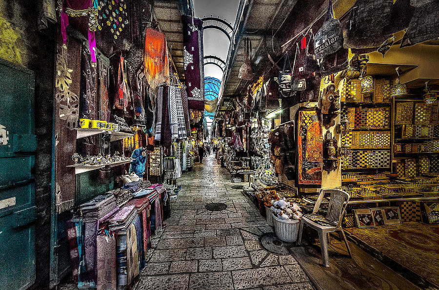Jerusalem Photograph - Market In The Old City Of Jerusalem by David Morefield