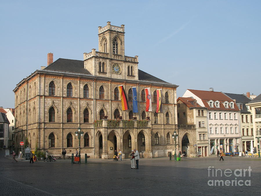 Market Place Photograph - Market Place Weimar - Unesco Heritage Site by Christiane Schulze Art And Photography