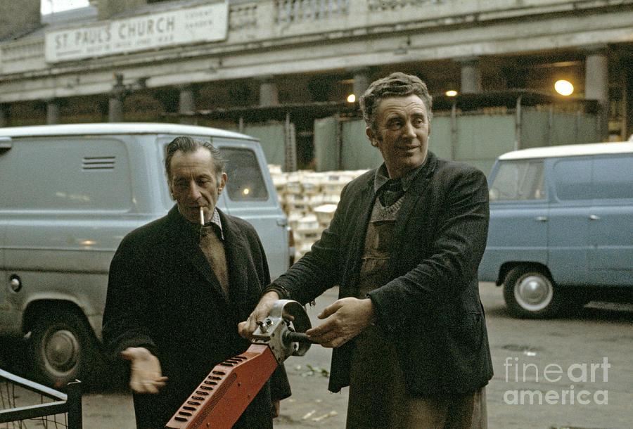 Market Photograph - Market Porters by David Davies