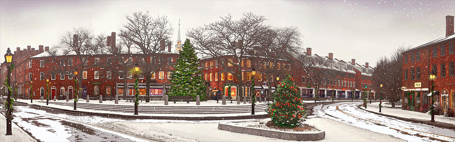 Cityscape Photograph - Market Square Christmas - 2013 by John Brown