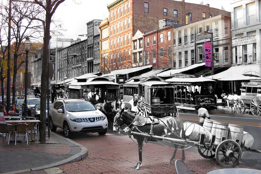 Philadelphia Photograph - Market Street In Old City by Eric Nagy