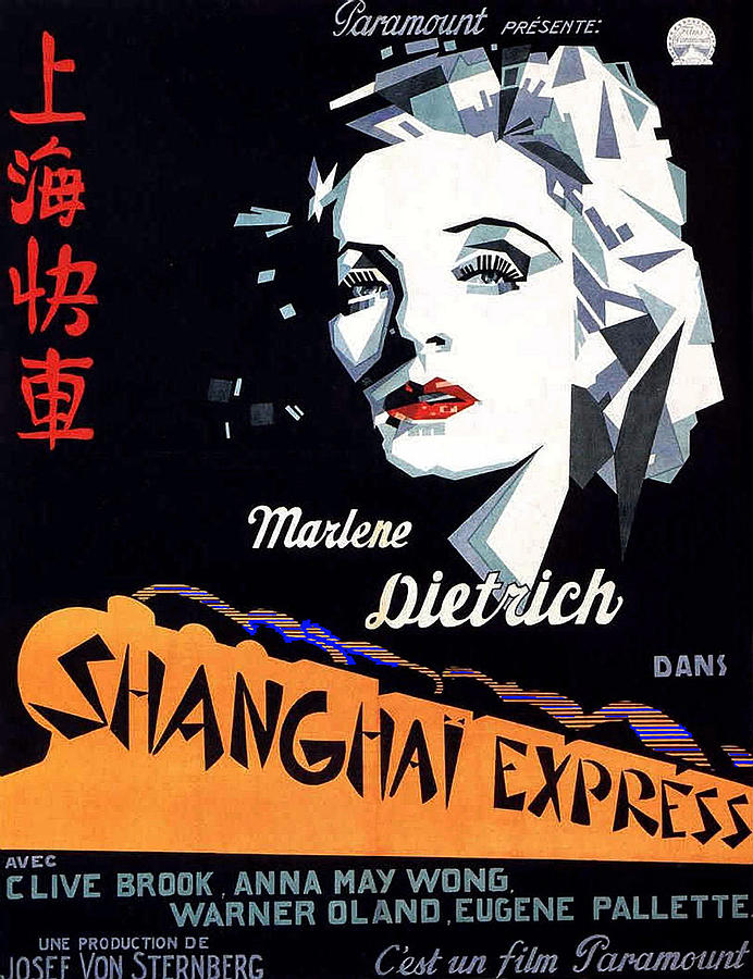 Marlene Dietrich Art Deco French Poster Shanghai Express 1932-2012 Photograph by David Lee Guss