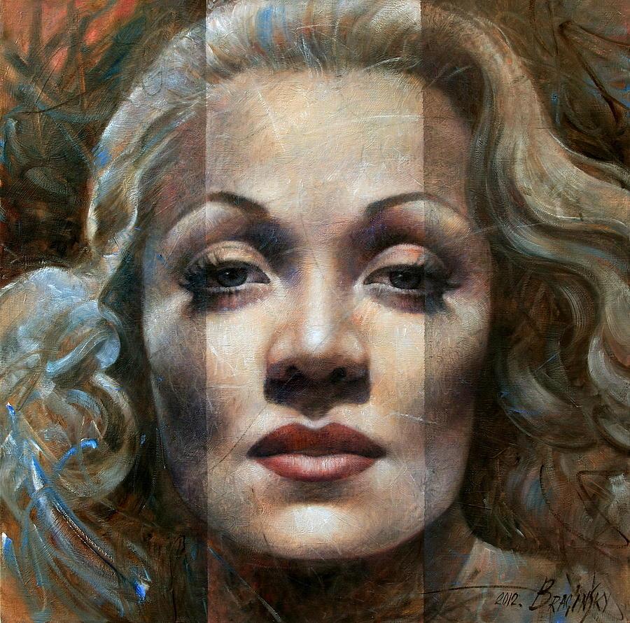 Marlene Dietrich Painting - Marlene Dietrich by Arthur Braginsky