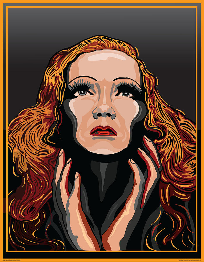 Marlene Dietrich Digital Art - Marlene Dietrich Hollywood The Golden Age by Larry Butterworth