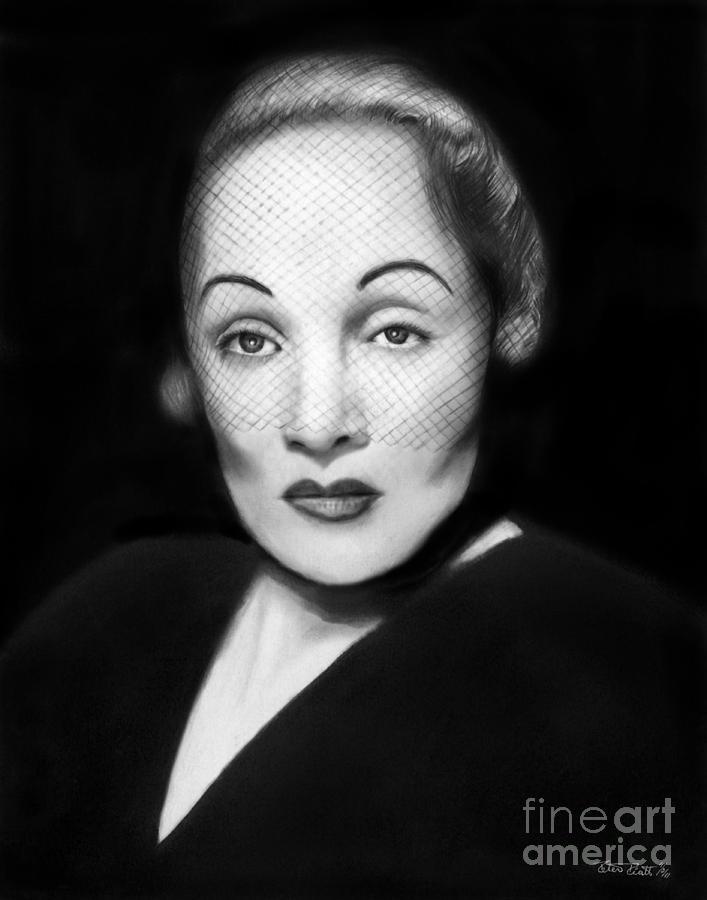 Marlene Dietrich Drawing - Marlene Dietrich by Peter Piatt
