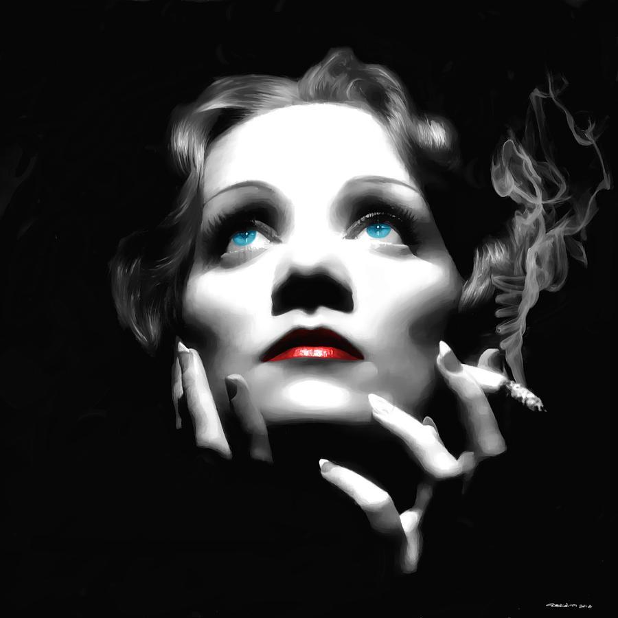 Marlene Dietrich Digital Art - Marlene Dietrich Portrait by Gabriel T Toro