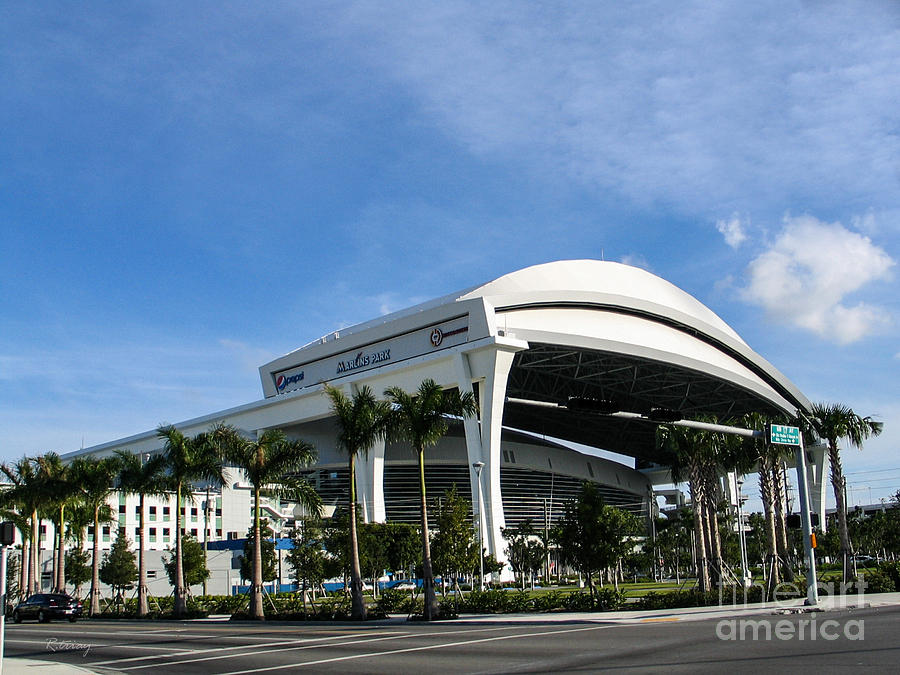 Miami Marlins Photograph - Marlins Park Stadium Miami 16 by Rene Triay Photography